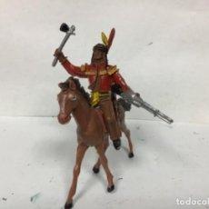Figuras de Goma y PVC: FIGURA INDIO COMANSI OESTE WESTERN COWBOY . Lote 156011486