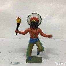 Figuras de Goma y PVC: FIGURA BRUJO INDIO STARLUX SERIE LUXE ESCALA REAMSA JECSAN . Lote 156405598
