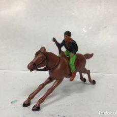 Figuras de Goma y PVC: FIGURA VAQUERO STARLUX CABALLO REAMSA ESCALA REAMSA JECSAN . Lote 156406482