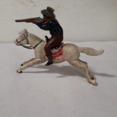 Figuras de Goma y PVC: REAMSA VAQUERO A CABALLO EN GOMA. Lote 156515724