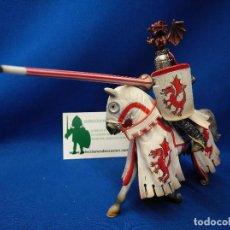 Figuras de Goma y PVC: SCHLEICH CABALLERO DE TORNEO DEL DRAGÓN ROJO REF 70046. Lote 156573534