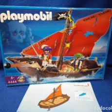Figuras de Goma y PVC: PLAYMOBIL GRAN BOTE PIRATA REF 4444. Lote 156574974
