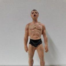 Figuras de Goma y PVC: SUBMARINISTA / NADADOR . REALIZADAS POR JECSAN . SERIE FAUNA MARINA . AÑOS 50 EN GOMA. Lote 156597906