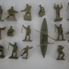 Figuras de Goma y PVC: AIRFIX HO-1/72: 18 SOLDADOS COMANDOS INGLESES DE 2ª GUERRA MUNDIAL. BRITÁNICOS AÑOS 70. PTOY. Lote 156645450