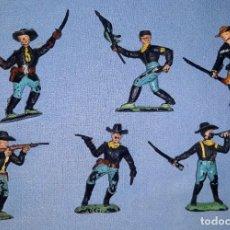 Figuras de Goma y PVC: ANTIGUO LOTE DE FIGURAS CRESCENT 7º DE CABALLERIA TIPO JECSAN COMANSI VER FOTOS Y DESCRIPCION. Lote 156653910