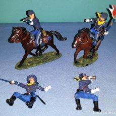 Figuras de Goma y PVC: ANTIGUO LOTE DE FIGURAS 7º DE CABALLERIA TIPO JECSAN COMANSI ETC VER FOTOS Y DESCRIPCION. Lote 156654754