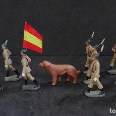 Figuras de Goma y PVC: PECH DESFILE EJERCITO DE TIERRA PLASTICO. Lote 156656306