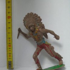 Figuras de Goma y PVC: FIGURA GOMA GUERRERO INDIO LAFREDO ? SERIE GRANDE. Lote 156667254
