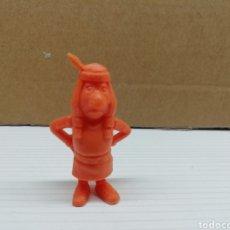 Figuras de Goma y PVC: FIGURA DUNKIN..LUCKY LUKE...DARGAUD...GRANDE...(INDIO BAJITO)... Lote 116700880