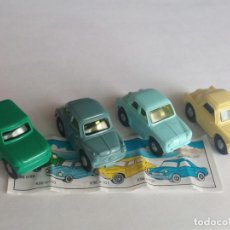 Figuras Kinder: KINDER SORPRESA EU 1995 - REF. COCHE K96 N99/100/101/102 NSU, SIMCA, FIAT 500, GOGGO. Lote 156996054