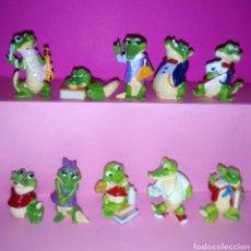 Figuras Kinder: CRAZY CROCOS COLECCIÓN COMPLETA KINDER SORPRESA (COCODRILOS). Lote 157019146