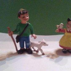 Figuras de Goma y PVC: FIGURAS HEIDI Y PEDRO . Lote 157094410
