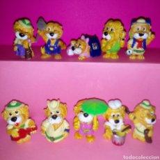 Figuras Kinder: LEOAVENTURAS COLECCIÓN COMPLETA KINDER SORPRESA (LEONES). Lote 157124061