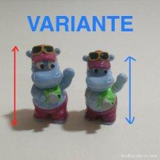 Figuras Kinder: LEER VARIANTE KINDER HAPPY HIPPOS HIPOPOTAMOS HIPO 90 FERRERO MONOBLOC. Lote 157200878