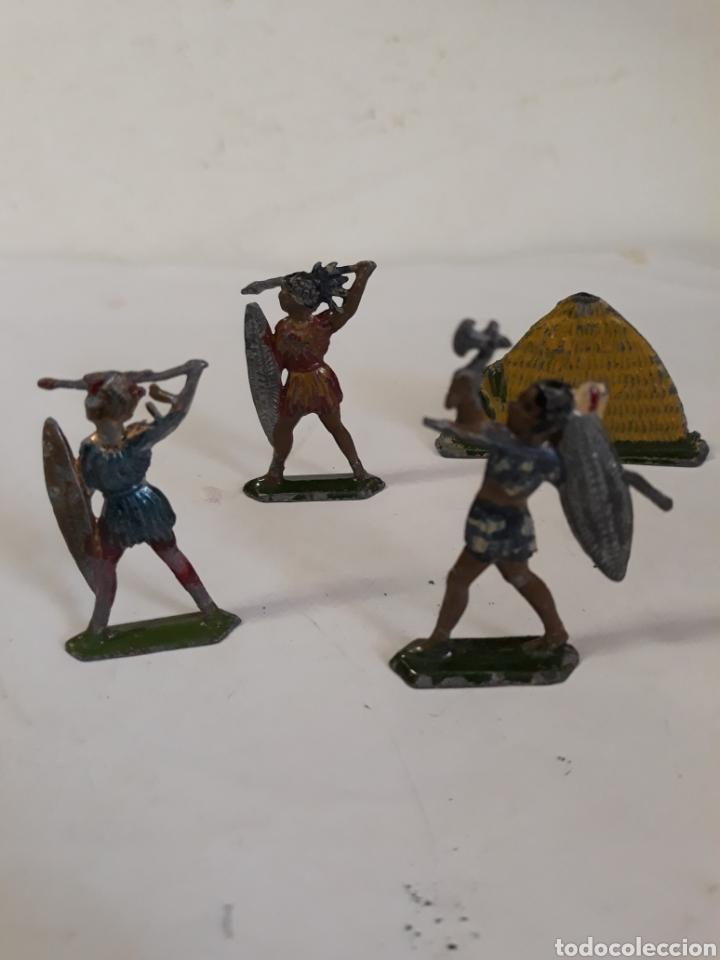 LOTE INDIGENAS EN PLOMO CAPELL,CASANELLAS,TEIXIDO (Juguetes - Figuras de Goma y Pvc - Teixido)