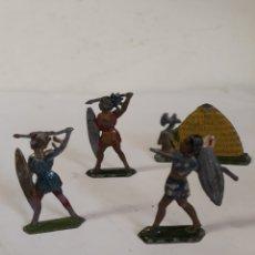 Figuras de Goma y PVC: LOTE INDIGENAS EN PLOMO CAPELL,CASANELLAS,TEIXIDO. Lote 157201485