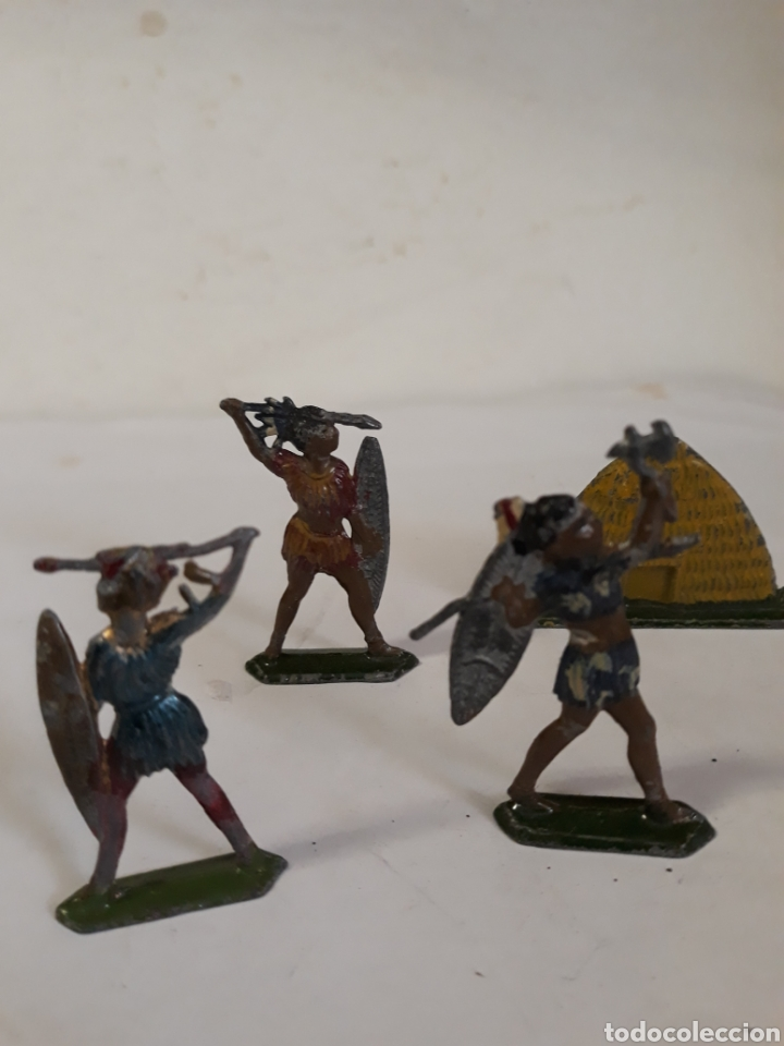 Figuras de Goma y PVC: LOTE INDIGENAS EN PLOMO CAPELL,CASANELLAS,TEIXIDO - Foto 4 - 157201485