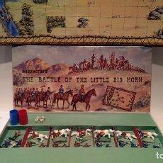 Figuras de Goma y PVC: THE BATTLE OF THE LITTLE BIG HORN 1964 DE WADDINGTON UK IGUAL ROJAS MALARET (NO REAMSA, JECSAN). Lote 157358570