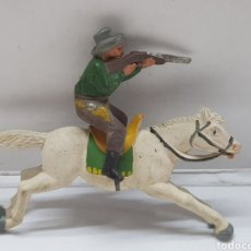 Figuras de Goma y PVC: FIGURA VAQUERO A CABALLO EN GOMA REAMSA. Lote 157836806