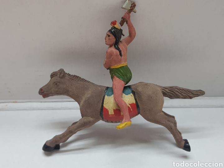 Figuras de Goma y PVC: Figura Indio a Caballo goma Reamsa - Foto 2 - 157837796