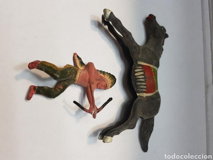 Figuras de Goma y PVC: Figura Indio a Caballo goma Reamsa - Foto 3 - 157837973