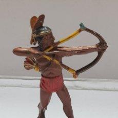 Figuras de Goma y PVC: FIGURA INDIO TEIXIDO GOMA MUY ESCASA. Lote 157838733