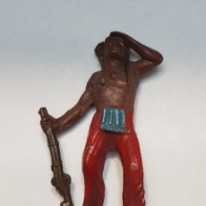 Figuras de Goma y PVC: FIGURA INDIO DE TEIXIDO GOMA ESCASA. Lote 157839093