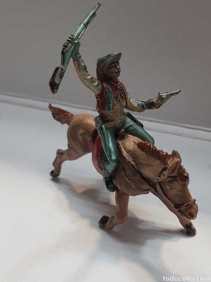 FIGURA VAQUERO A CABALLO GOMA TEIXIDO (Juguetes - Figuras de Goma y Pvc - Teixido)