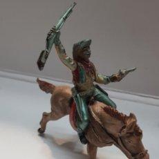 Figuras de Goma y PVC: FIGURA VAQUERO A CABALLO GOMA TEIXIDO. Lote 157840026
