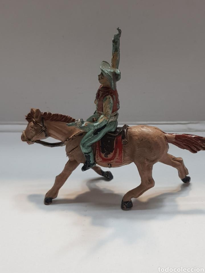 Figuras de Goma y PVC: Figura Vaquero a Caballo goma Teixido - Foto 2 - 157840026