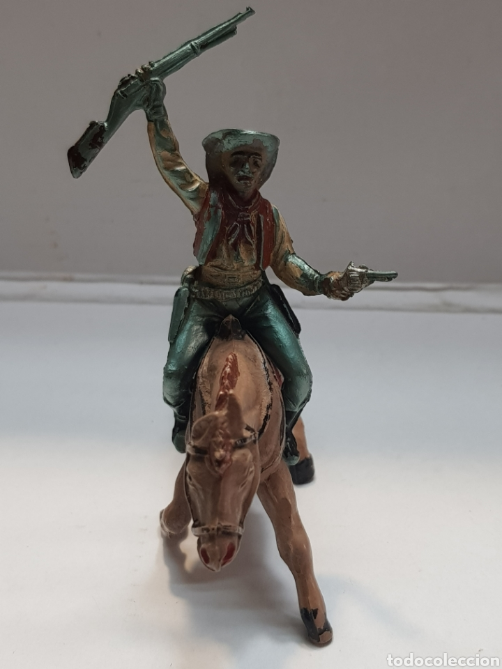 Figuras de Goma y PVC: Figura Vaquero a Caballo goma Teixido - Foto 3 - 157840026