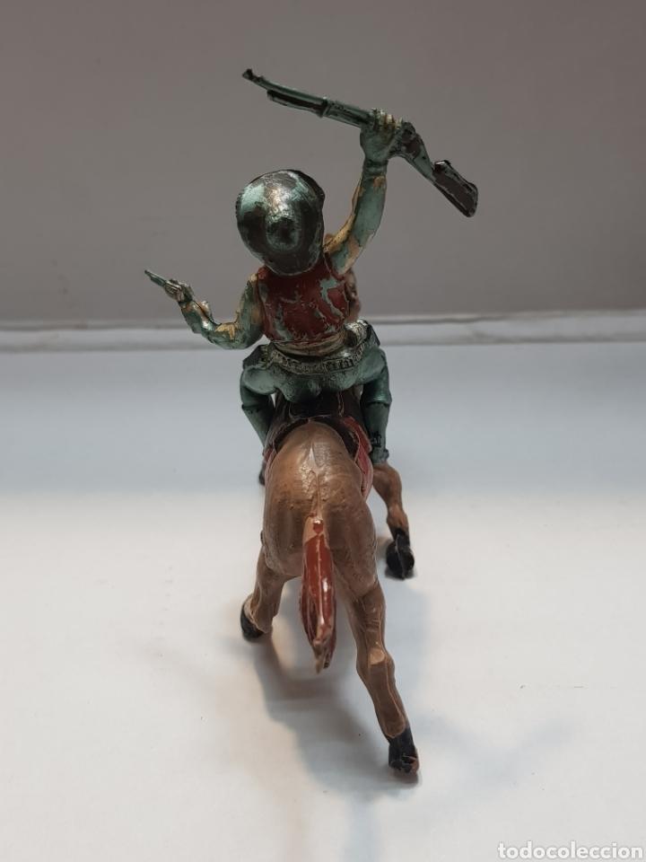 Figuras de Goma y PVC: Figura Vaquero a Caballo goma Teixido - Foto 4 - 157840026
