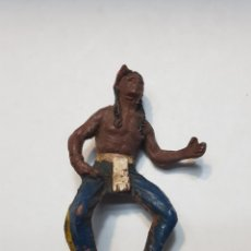 Figuras de Goma y PVC: FIGURA INDIO DE GOMA PECH. Lote 157841350