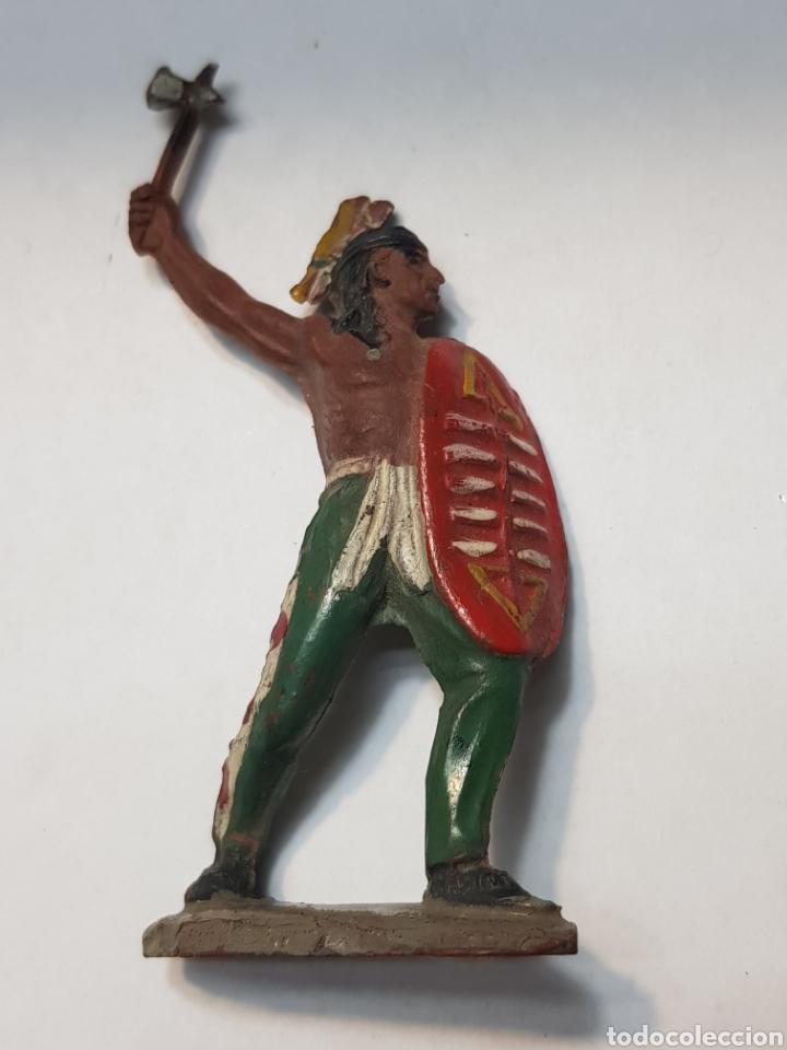 FIGURA INDIO CON ESCUDO DE GOMA LAFREDO ESCASA (Juguetes - Figuras de Goma y Pvc - Lafredo)