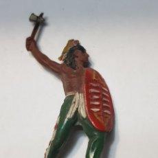 Figuras de Goma y PVC: FIGURA INDIO CON ESCUDO DE GOMA LAFREDO ESCASA. Lote 157843621