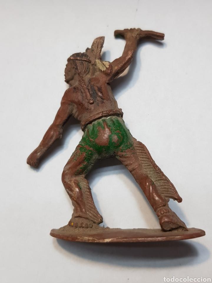 Figuras de Goma y PVC: Figura Indio goma Teixido - Foto 2 - 158540538