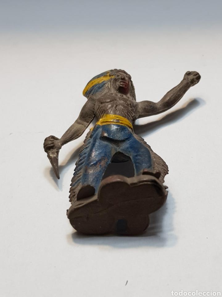 Figuras de Goma y PVC: Figura antigua Jefe Indio de Sotorres - Foto 4 - 158540753