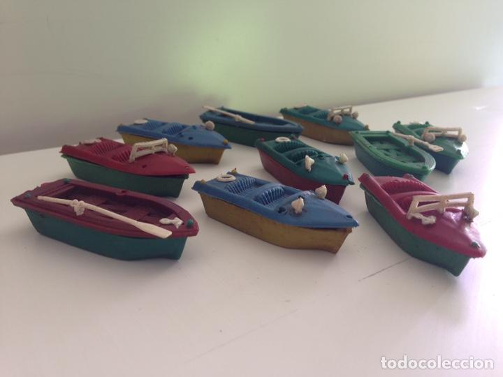 Figuras de Goma y PVC: LOTE DE 10 BOTES ANTIGUOS AÑOS 70 - Foto 2 - 158565164