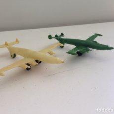 Figuras de Goma y PVC: LOTE AVIONES DE CAZA MILITAR AÑOS 70. Lote 158578868