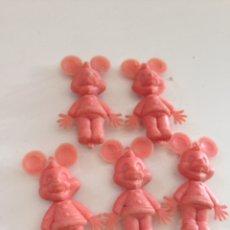Figuras de Goma y PVC: LOTE DE 5 MUÑECOS TIPO DUNKIN AÑOS 60. Lote 158581773