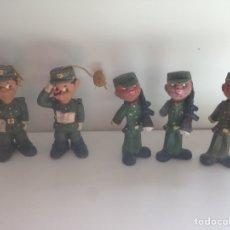 Figuras de Goma y PVC: ANTIGUO LOTE DE SOLDADOS DE GOMA AÑOS 60. Lote 158613006
