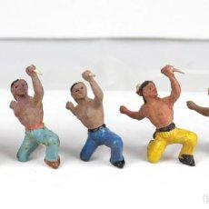 Figuras de Goma y PVC: ALCA CAPELL, 2 INDIOS CON PUÑAL. Lote 160857957