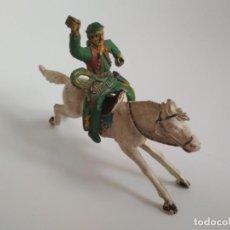 Figuras de Goma y PVC: FIGURAS AÑOS 50 VAQUERO GOMA. Lote 158819562