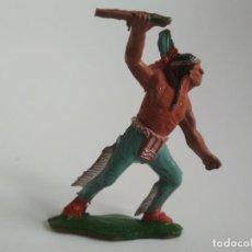 Figuras de Goma y PVC: FIGURA INDIO GOMA AÑOS 50 LAFREDO. Lote 158826446