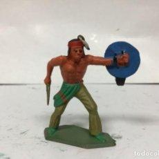 Figuras de Goma y PVC: FIGURA INDIO STARLUX SERIE LUXE ESCALA JECSAN REAMSA. Lote 158879626