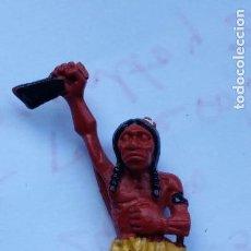 Figuras de Goma y PVC: FIGURA INDIO GOMA DE PECH. Lote 158893422