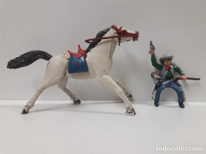 Figuras de Goma y PVC: VAQUERO A CABALLO . REALIZADO POR SOTORRES . AÑOS 50 EN GOMA - Foto 5 - 158940382