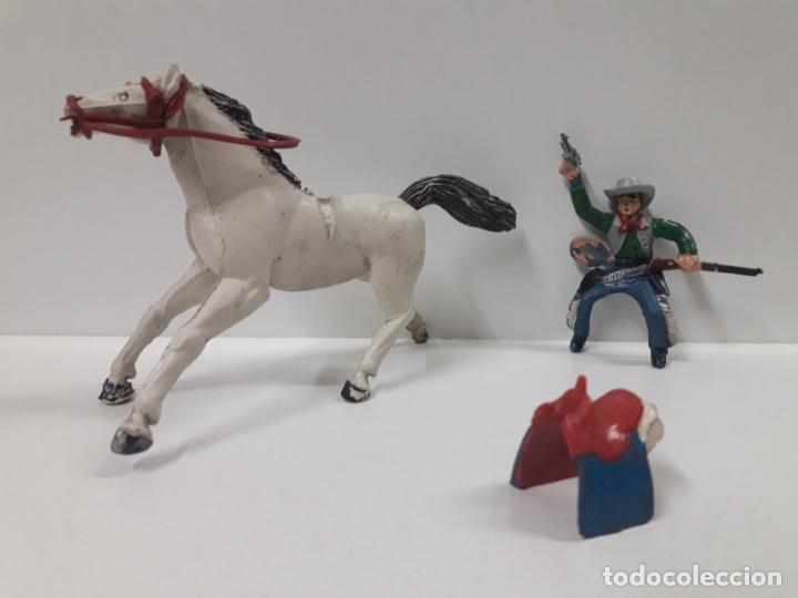Figuras de Goma y PVC: VAQUERO A CABALLO . REALIZADO POR SOTORRES . AÑOS 50 EN GOMA - Foto 7 - 158940382