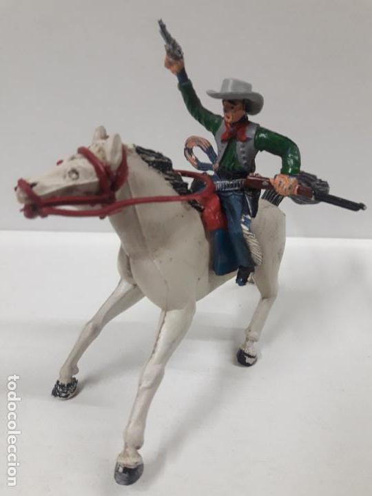 Figuras de Goma y PVC: VAQUERO A CABALLO . REALIZADO POR SOTORRES . AÑOS 50 EN GOMA - Foto 8 - 158940382