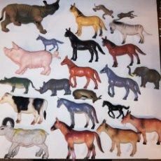 Figuras de Goma y PVC: FIGURA GOMA PLASTIC PVC ANIMALES 65 PIEZAS. Lote 158951686